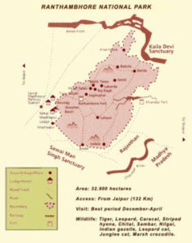 Map of Ranthambhore National Park