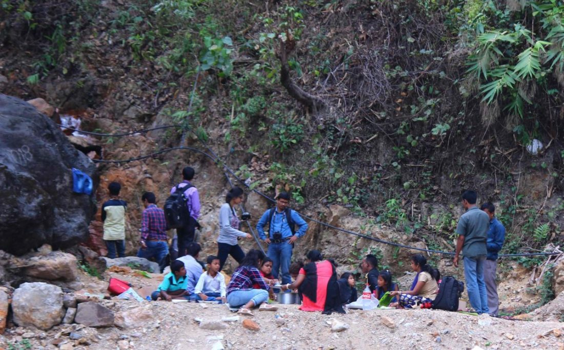 Picnics being held at the Jaintia river _ Conservation