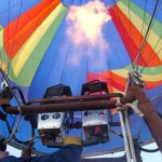 To make the most of the ride a hot air balloon safari is best when the weather is calmest and at sunrise