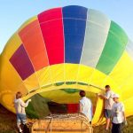 To make the most of the ride a hot-air balloon safari is best done when the weather is calmest at sunrise