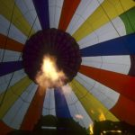Hot air balloon safaris are best done during the beautiful morning light at sunrise when the weather is calmest