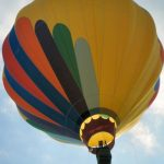 A hot air balloon safaris are best during the beautiful morning light at sunrise when the weather is calmest