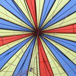 Hot air balloons that are fabric bags filled with hot air were invented in France in 1783