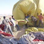 A hot air balloon safari is best at sunrise