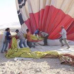 A hot air balloon safari is best done when the weather is calmest