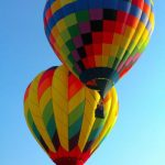 A hot air balloon safari is best done when the weather is calmest at sunrise