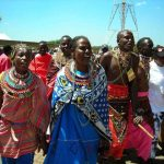 Piercing and stretching of earlobes is commonly practiced among the Maasai