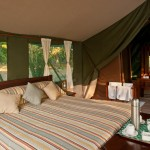 Most tented camps have a spacious outdoor deck