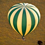 A balloon flies between 15 to 25 kilometres