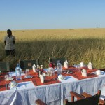 A hot-air balloon ride is usually followed by a champagne breakfast in the bush