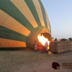 The hot-air balloon basket has well-cushioned seats