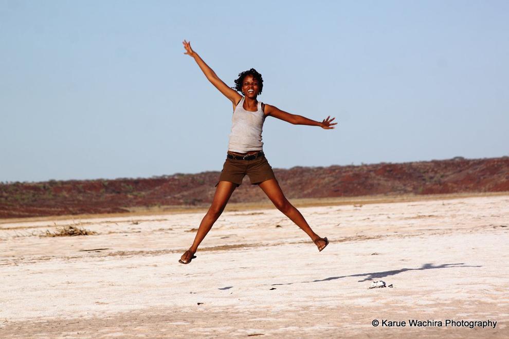 Chalbi Desert_Rachel jumping