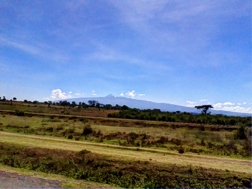 Marsabit County_View of Mt.Kenya along Nyeri-Nanyuki Rd2