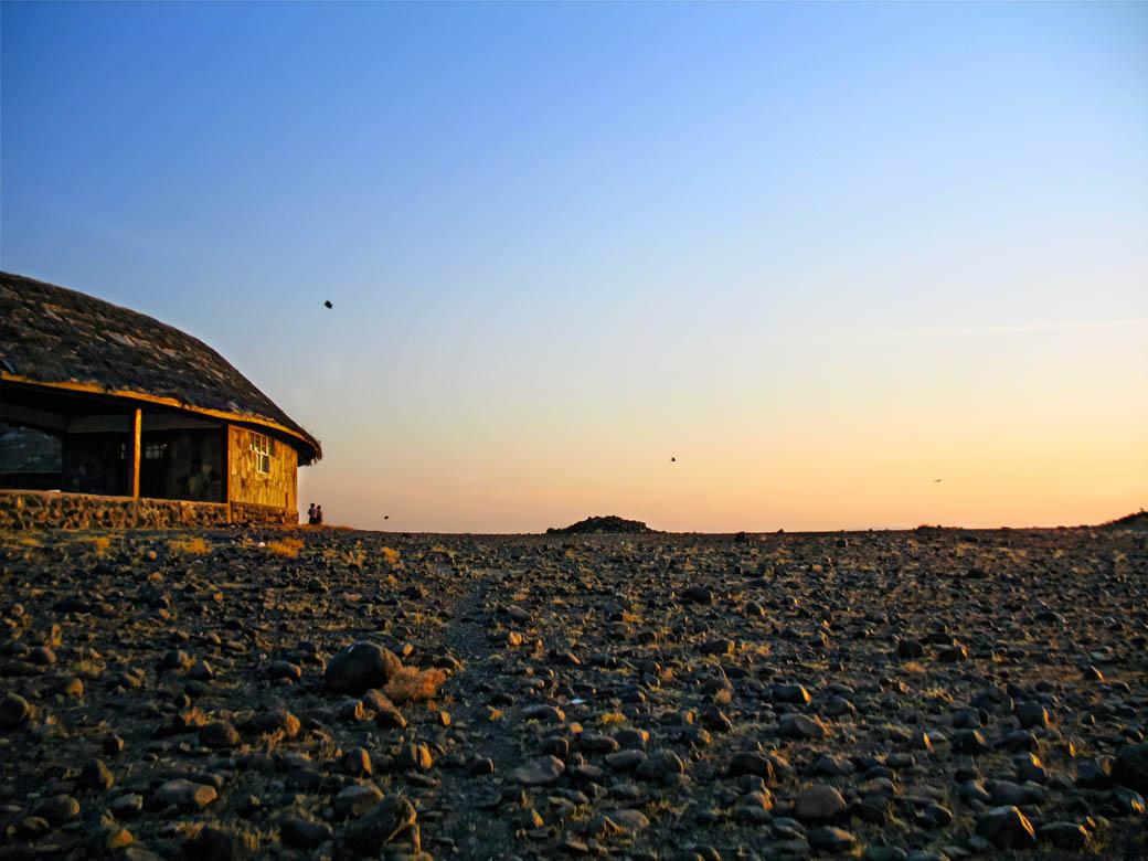 Loiyangalani Desert Museum_building_sunset