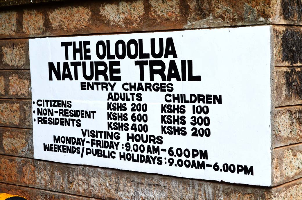 Oloolua Nature Trail_Entrance Fees