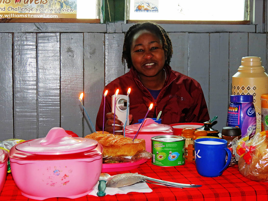 Mount Kenya_Old Moses Camp_celebrating birthday