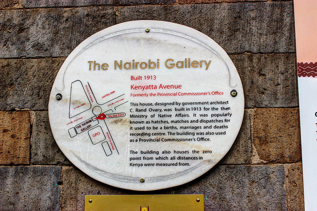 The Nairobi Gallery_plaque