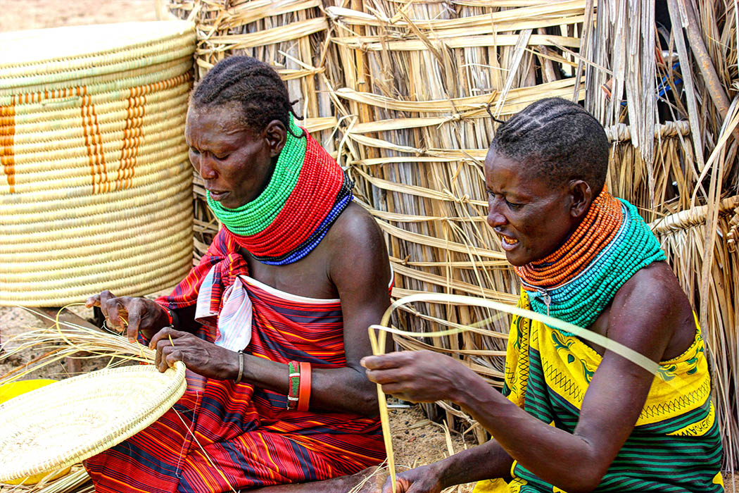 Sights & People from the North Rift_Turkana women weaving