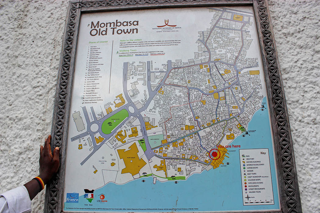 Mombasa Old Town_Map of Old town