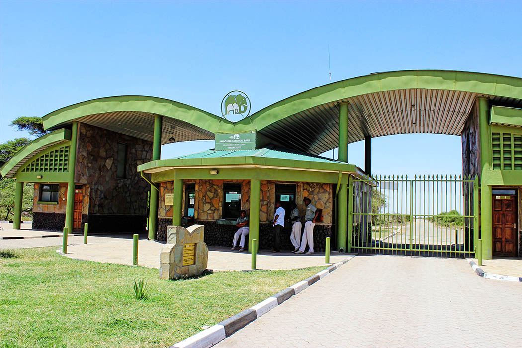 Amboseli National Park park gate