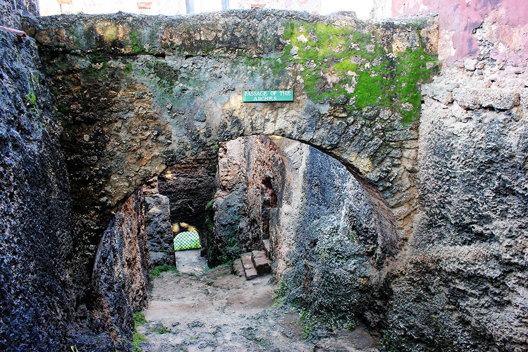 Fort Jesus Mombasa_passage of the arches
