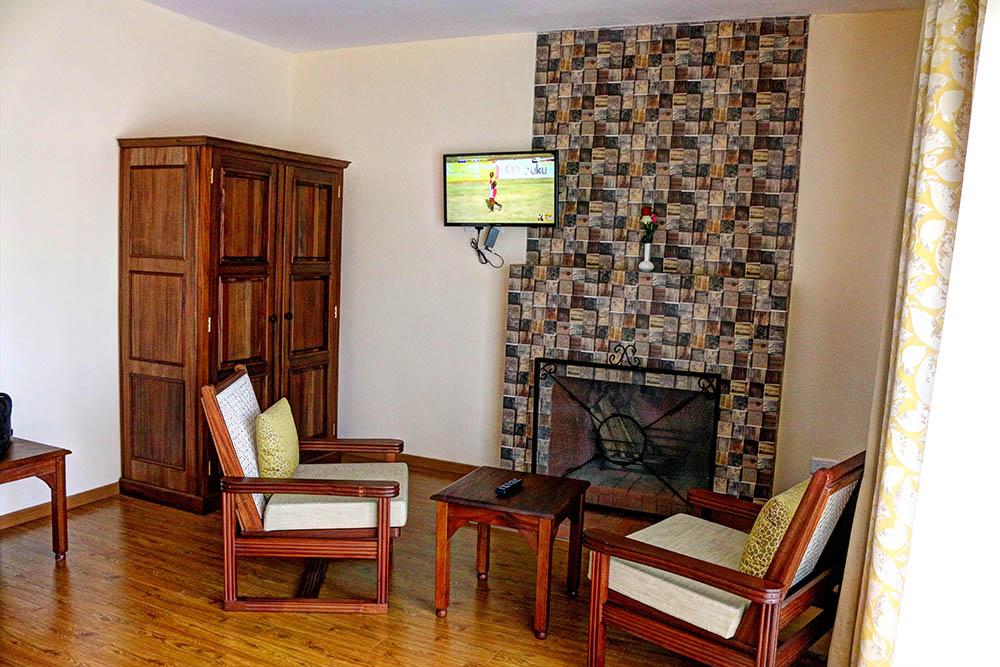 Panari Resort_Tv and fireplace