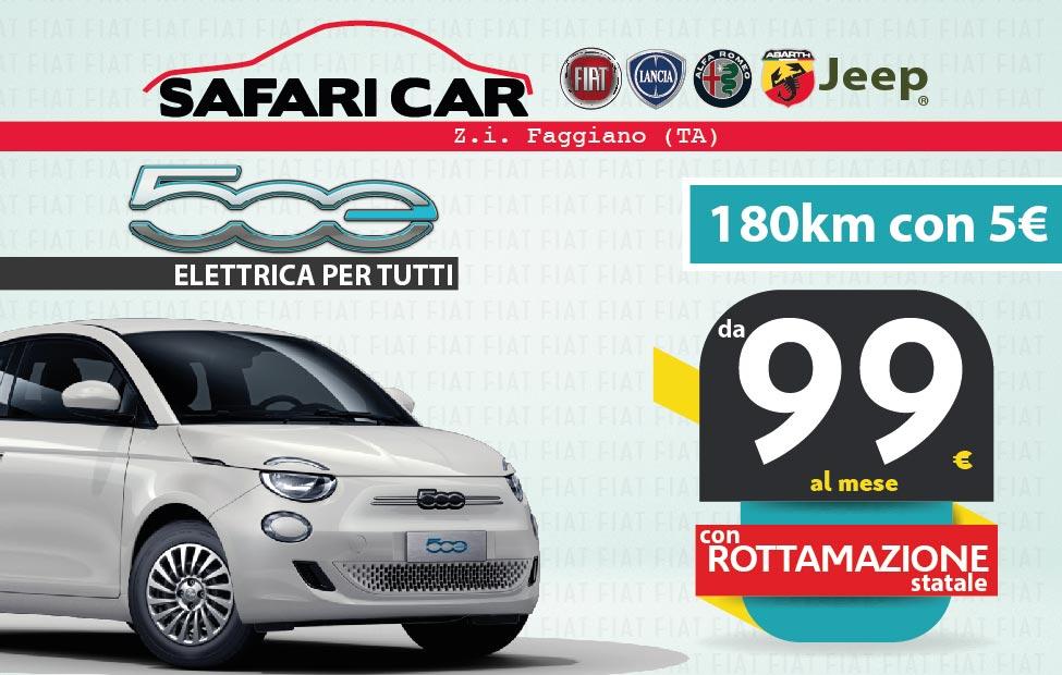500e v3 Tavola disegno 1 Offerta Fiat 500 elettrica Taranto Aprile 2021