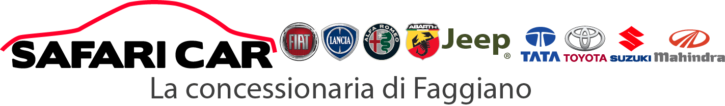 logosafaricarhomepage 01 Safari Car Concessionaria Fiat Lancia Abarth AlfaRomeo Jeep Toyota Suzuki Tata