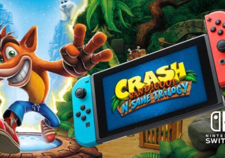 Crash Bandicoot N. Sane Trilogy Switch LOGO