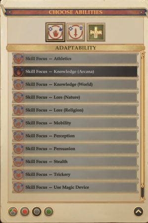 pathfinder kingmaker abilità