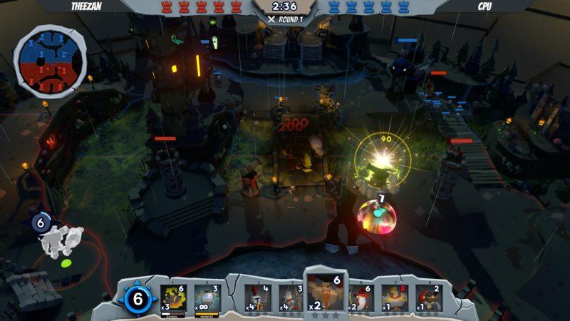 Tabletop Gods: Schermata di gioco