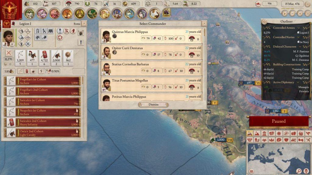 Scelta generale Imperator Rome