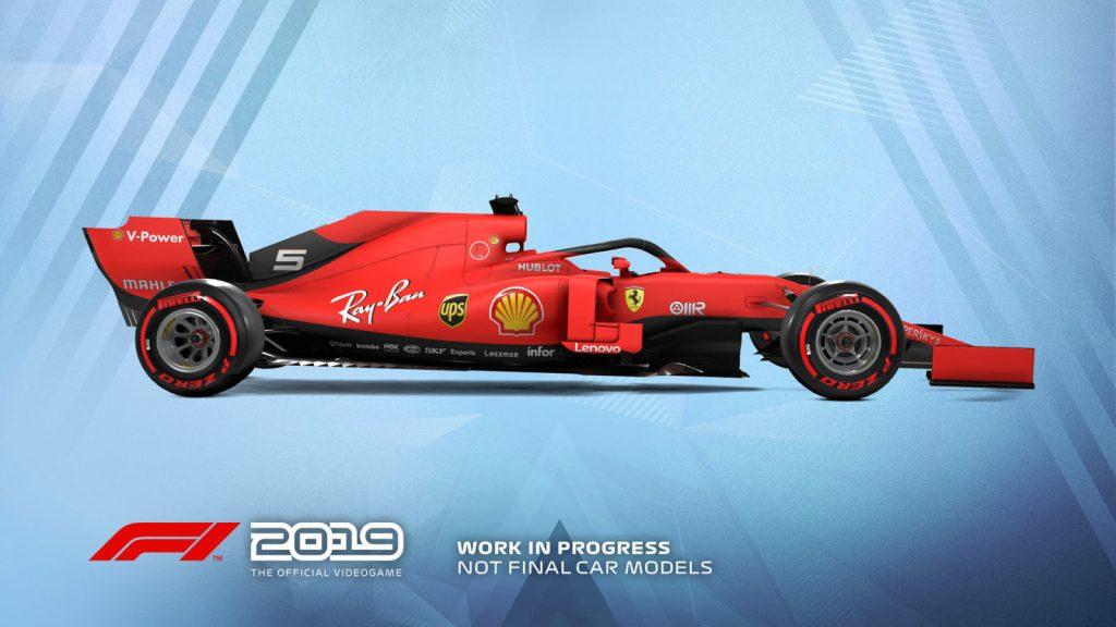La livrea temporanea della Ferrari