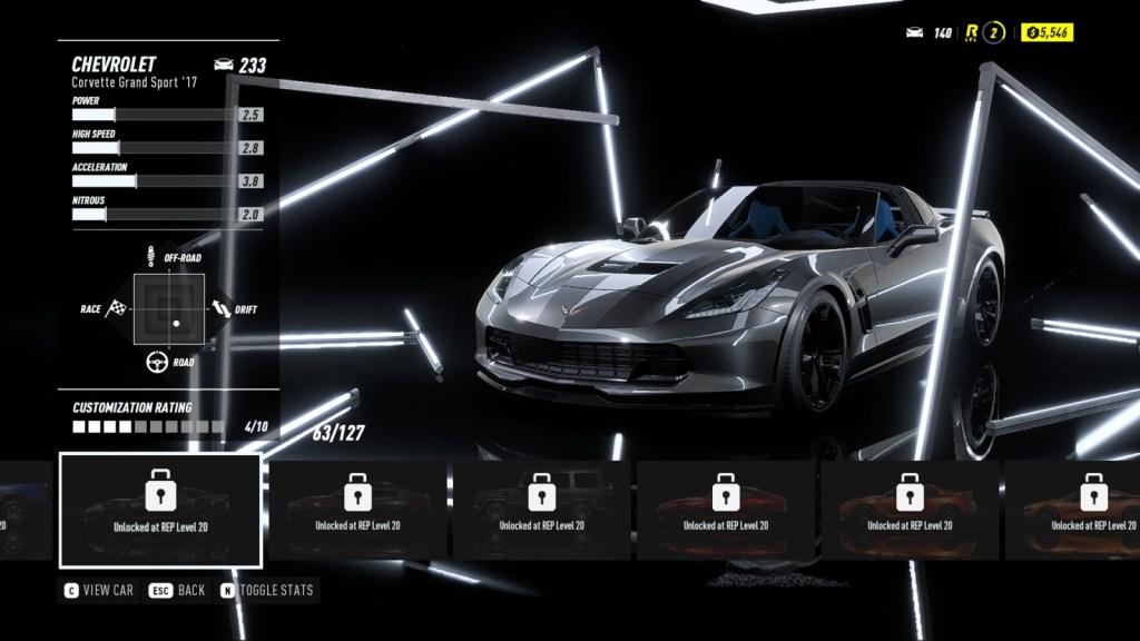 CHEVROLET Corvette Grand Sport '17