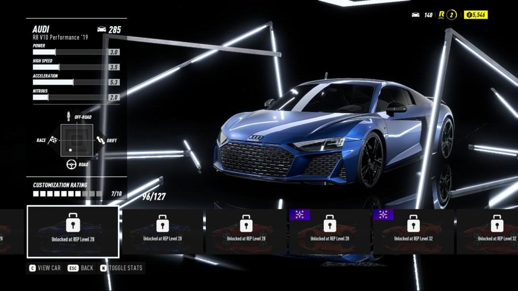 AUDI R8 V10 Performance '19