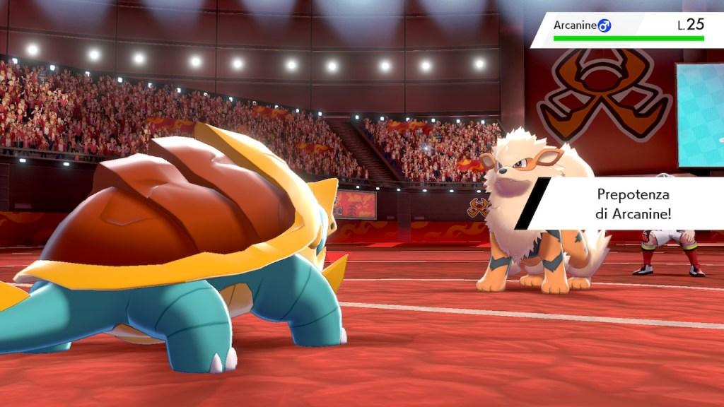 Pokemon spada e scudo recensione: Arcanine