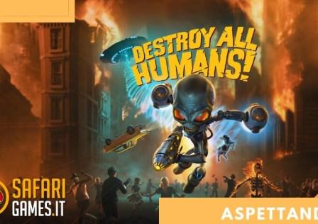 ASPETTANDO DESTROY ALL HUMANS – COPERTINA