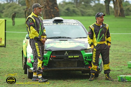 2018 Safari Rally Runners-up Baldev Singh Chager navigated by Ravi Soni