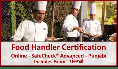 SafeCheck Food Handler Certification - Punjabi