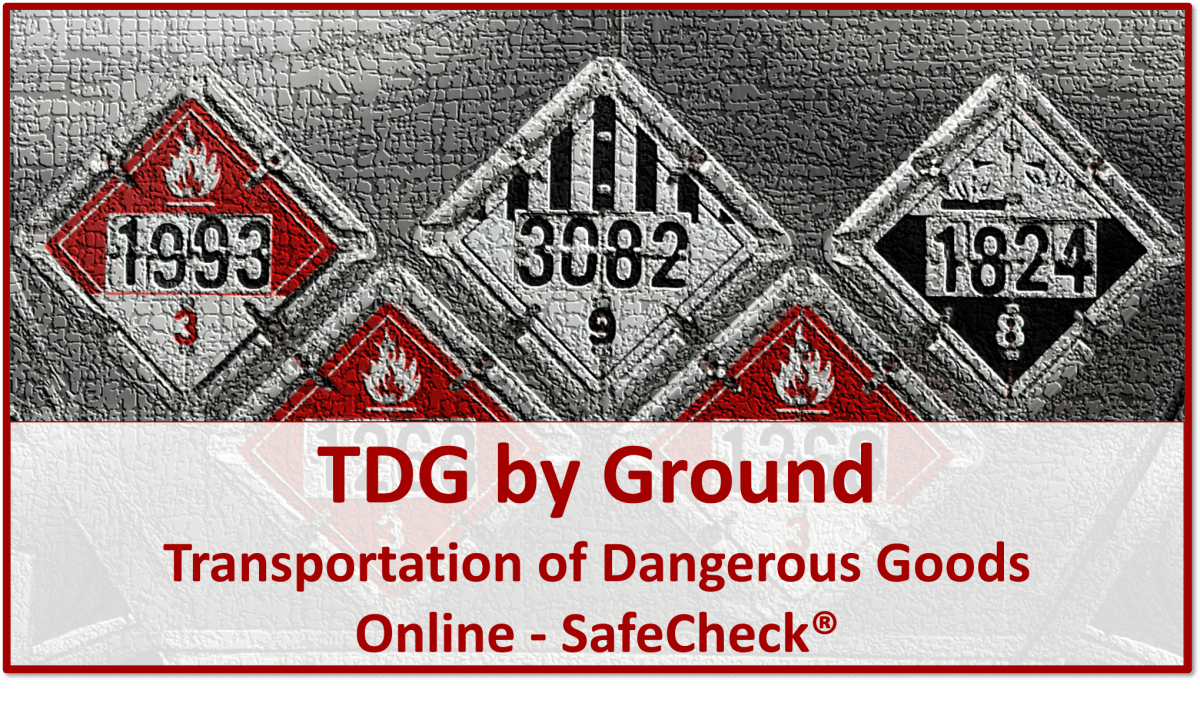 TDG by Ground