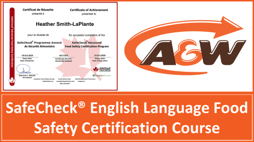 A&W English Language Food Safety