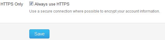 Twitter HTTPS Setting, Secure Browsing