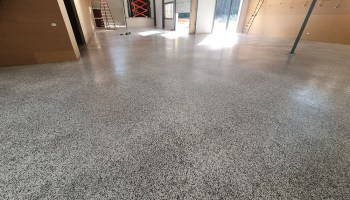 Lisarow Private Work Shed flooring finish
