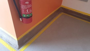 Repairs to Coving done by another Company in Bungendore NSW - Commercial Flooring