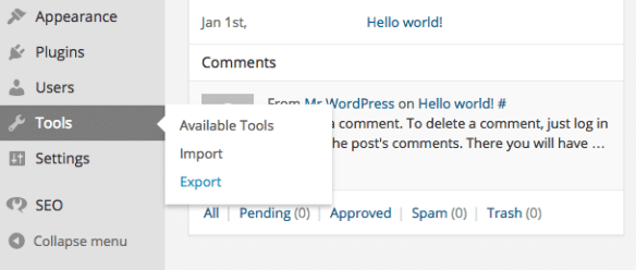 How to Back Up WordPress Content