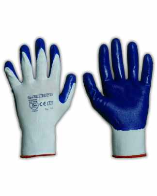 GUANTO SHELTECH NYLON BIANCO/NITRILE ROYAL (4121)