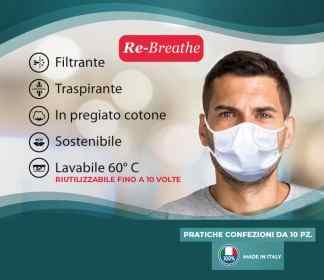 mascherina 100% cotone-coronavirus COVID-19