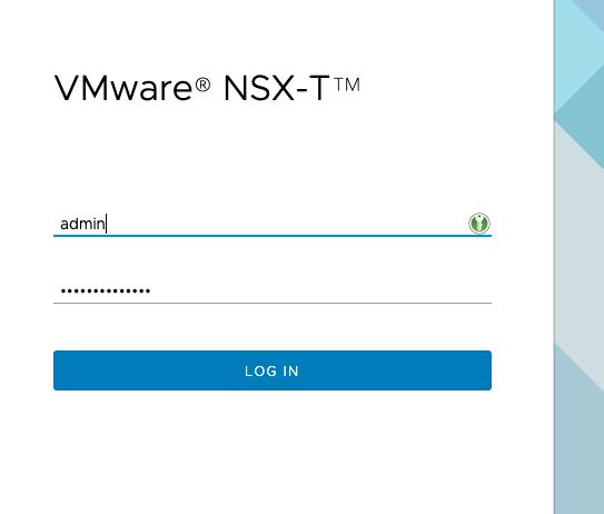 NSX Login Page