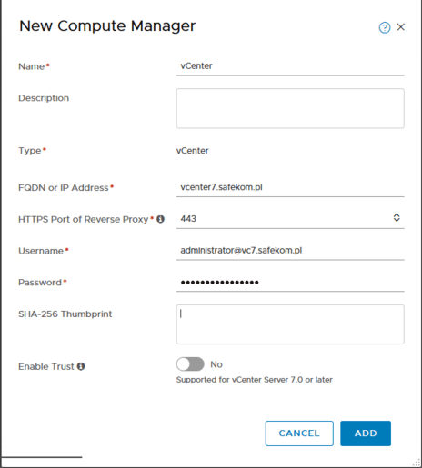 NSX-t 3.0 New Computer Manager