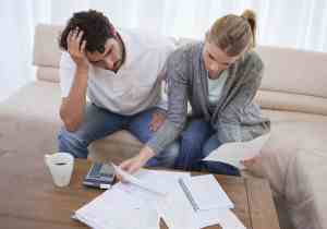 A couple having financial trouble
